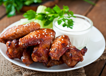 Teriyaki Wings Marinating - Allegro Marinade